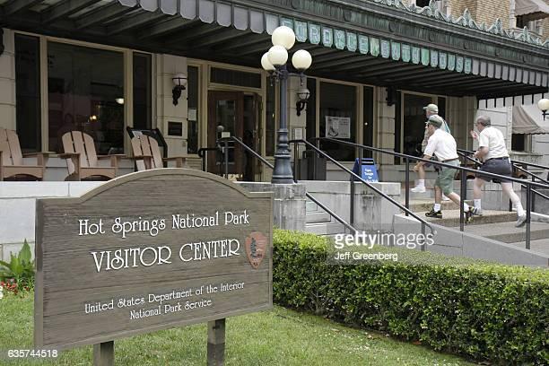 Hot Springs National Park Visitor Center sign