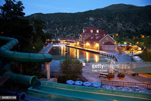 Hot springs pool in Glenwood Springs Colorado The hot springs is famous for being a favorite place of Teddy Roosevelt who vacationed here and visited...