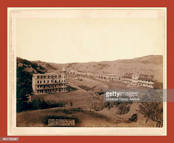Hot Springs Sd The Minnekahta And Gillispie Hotels New Blocks The Fremont Elkhorn Mv Ry Battle Mt In Distance John C H Grabill Was An American...