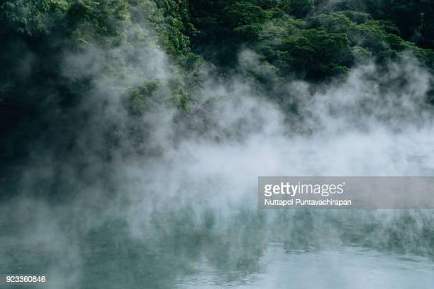 hot steam at thermal valley, beitou, taipei - hot spring stock pictures, royalty-free photos & images