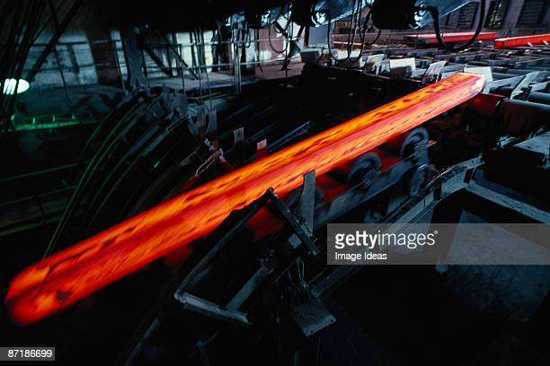 hot steel cooling, poldi kladno, czech republic - republic steel company stock pictures, royalty-free photos & images