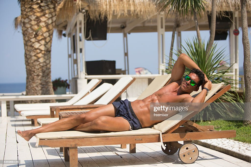 Hot summer hot guy : Stock Photo