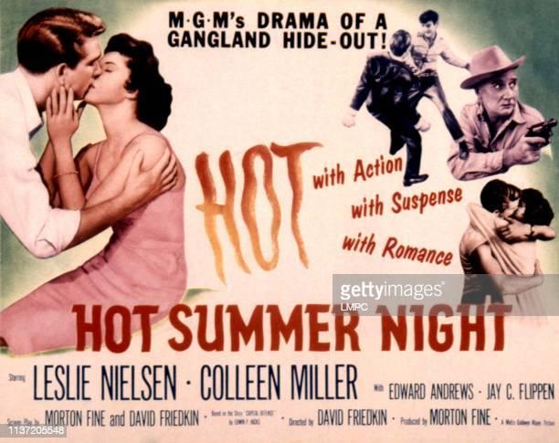 Hot Summer Night, poster, Leslie Nielsen, Colleen Miller, Edward Andrews, 1957.