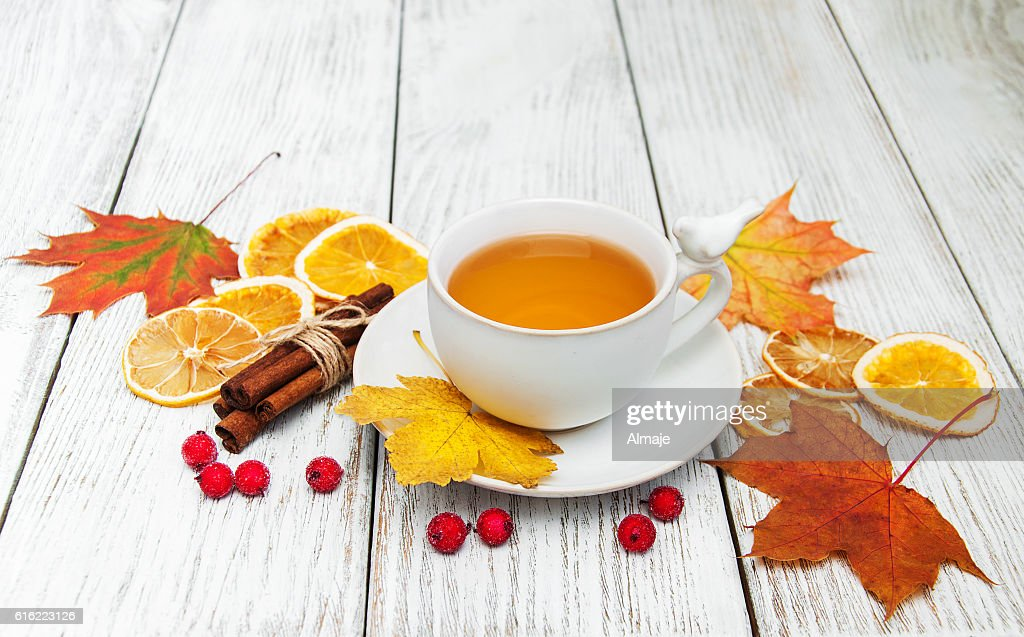 hot tea with spices : Stock-Foto