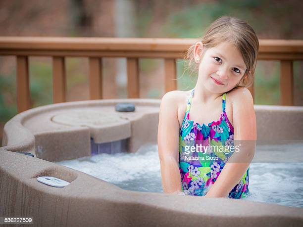 hot tub girl - girls in hot tub stock photos and pictures