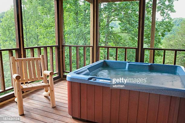 hot tub tree house (xxl) - hot tub stock pictures, royalty-free photos & images