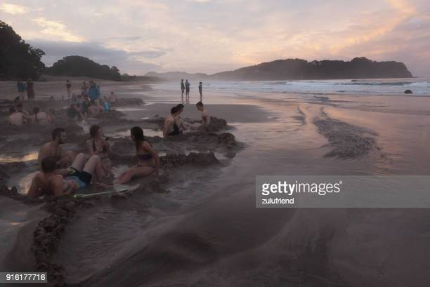 hot water beach - hot spring stock pictures, royalty-free photos & images