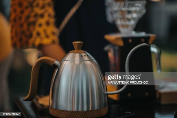 hot water kettle. - ティーポット ストックフォトと画像