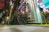 Hot water pipe ducting at an electric plant