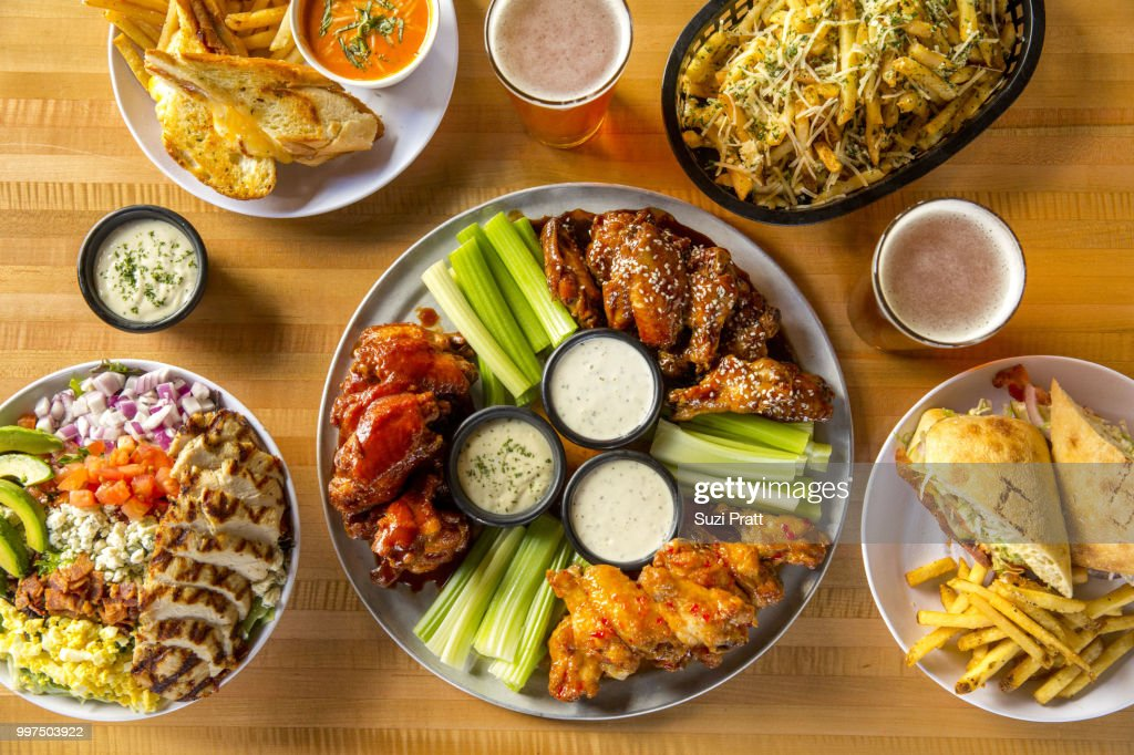 Hot Wings and Beer : Stock Photo