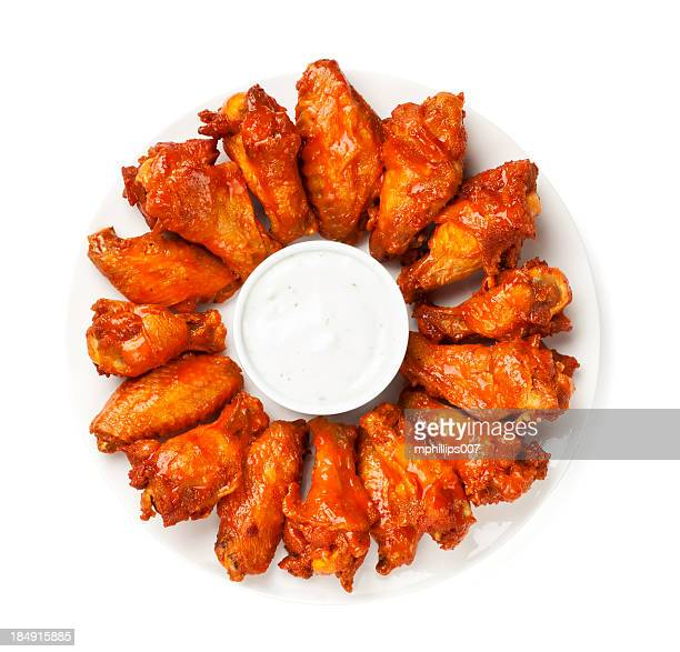 hot wings - directly above stock pictures, royalty-free photos & images
