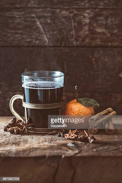 Hot winter punch with spices