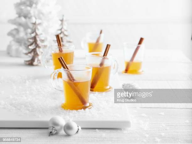 Hot Winter Toddy Cocktail with Cinnamon