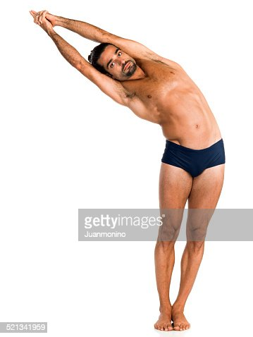 hot yoga pose half moon highres stock photo  getty images