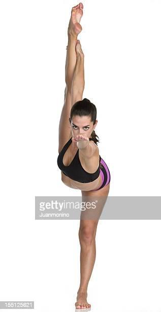 Hot Yoga Pose (Dandayamana Dhanurasana )
