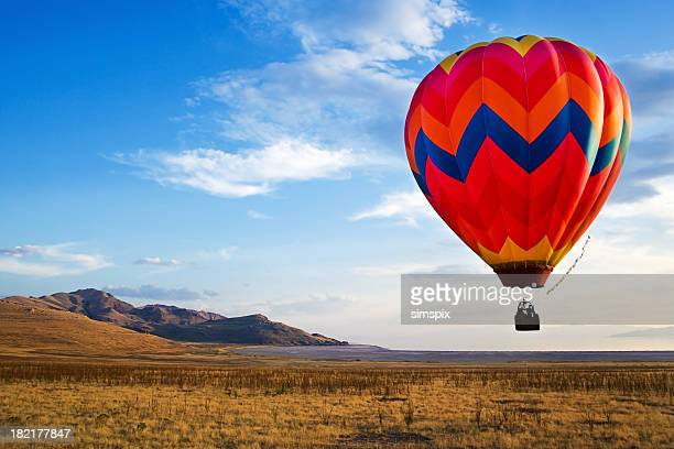 hot-air balloon rides - hot air balloon stock pictures, royalty-free photos & images