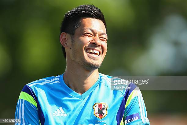 Hotaru Yamaguchi laughs during a Japan training session at North Greenwood Recreation & Aquatic Complex on June 5, 2014 in Clearwater, Florida.
