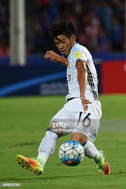 Hotaru Yamaguchi of Japan chase the ball during the 2018 FIFA World Cup Qualifier between Thailand and Japan at the Rajamangala National Stadium on...