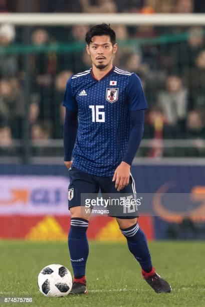 Hotaru Yamaguchi of Japan during the friendly match between Belgium and Japan on November 14 2017 at the Jan Breydel stadium in Bruges Belgium