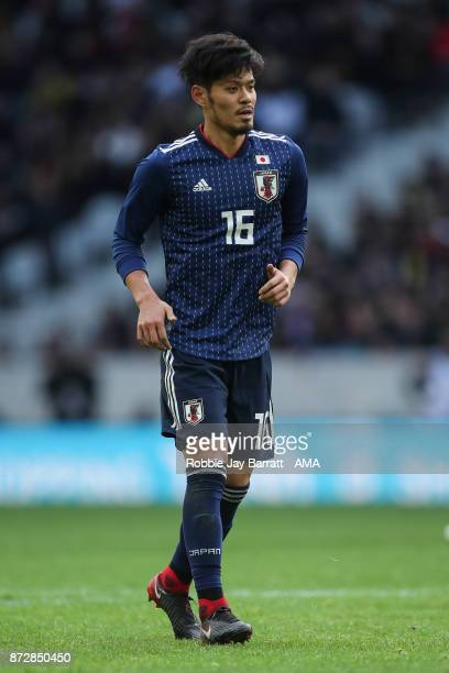 Hotaru Yamaguchi of Japan during the international friendly match between Brazil and Japan at Stade PierreMauroy on November 10 2017 in Lille France