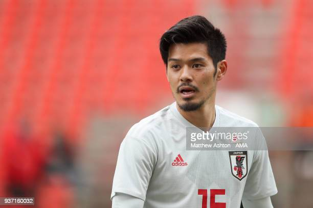 Hotaru Yamaguchi of Japan during the International friendly match between Japan and Mali at the Stade de Sclessin on March 23 2018 in Liege Belgium