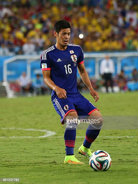 Hotaru Yamaguchi of Japan in action during the 2014 FIFA World Cup Brazil Group C match between Japan and Colombia at Arena Pantanal on June 24 2014...