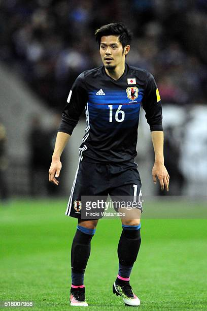 Hotaru Yamaguchi of Japan in action during the FIFA World Cup Russia Asian Qualifier second round match between Japan and Syria at the Saitama...