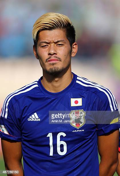 Hotaru Yamaguchi of Japan looks on during the 2018 FIFA World Cup Russia qualifier against Afghanistan at Azadi Stadium on September 8 2015 in Tehran...