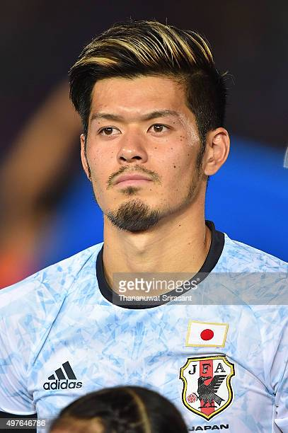 Hotaru Yamaguchi of Japan poses during the 2018 FIFA World Cup Qualifier match between Cambodia and Japan on November 17 2015 in Phnom Penh Cambodia