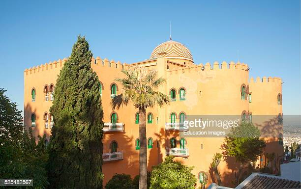 Hotel Alhambra Palace Granada Spain rear view of this four star hotel