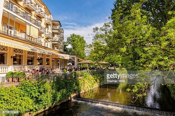 hotel along lichtentaler allee - baden baden stock-fotos und bilder