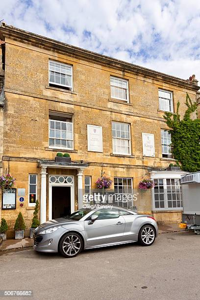 Hotel and Sports Car in Chipping Campden, Cotswold, England, UK.