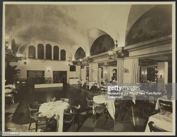 Hotel Astor Broadway 44th 45th Streets Interior L'orangerie Dining Room New York New York 1935
