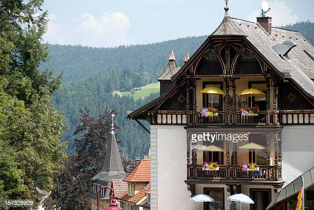 hotel balcony in Triberg Black Forest Germany