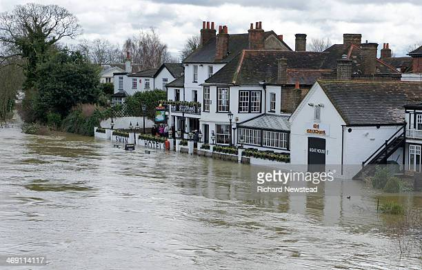 CONTENT] Hotel being breached by the River Thames during flooding StainesUponThames 11th February 2014