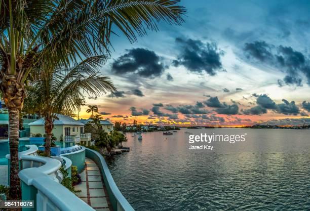 Hotel Bermuda at sunset in Bermuda.