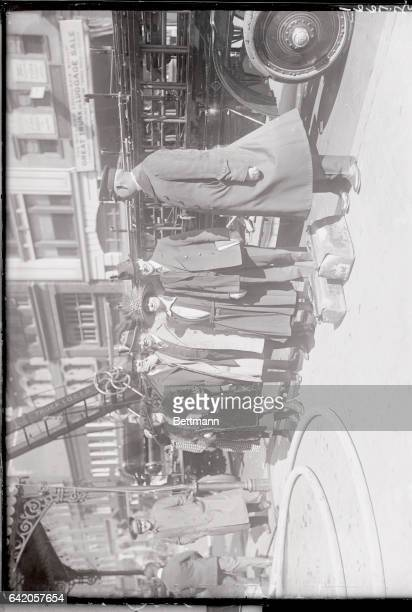 $150000 hotel Blaze Imperils Vice President and Mrs Coolidge Left to right Miss J Letley AH Duerno of Springfield Mass OH Wigley of New York Mrs...