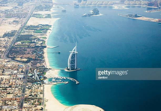 Hotel Burj Al Arab, bird view