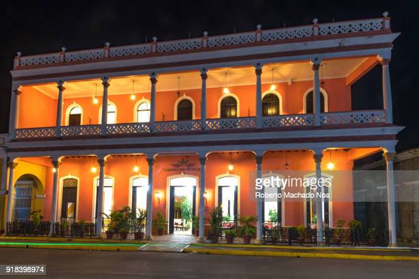Hotel 'Camino del Principe' facade at night The famous colonial place is operated by the brand 'Encanto' It is located in the center of the village
