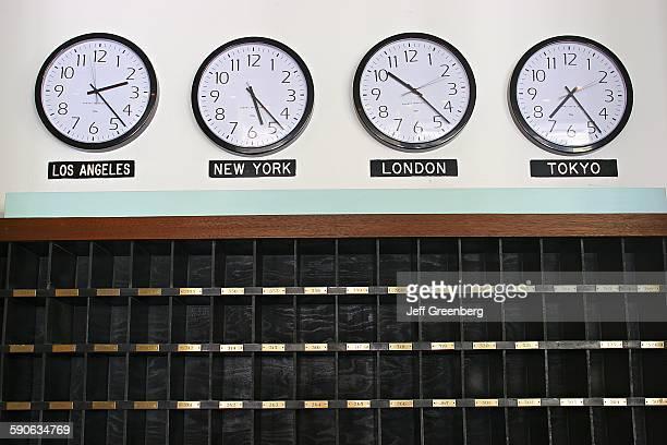 Hotel Clocks Showing Times Around The World
