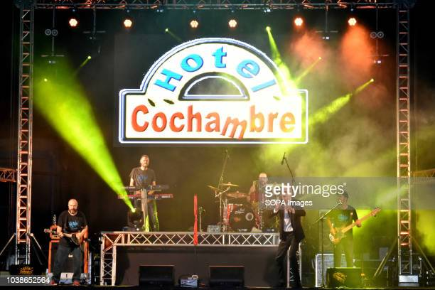 Hotel Cochambre a musical and theatrical group seen performing live Hotel Cochambre a musical and theatrical group performs with musicians covering...