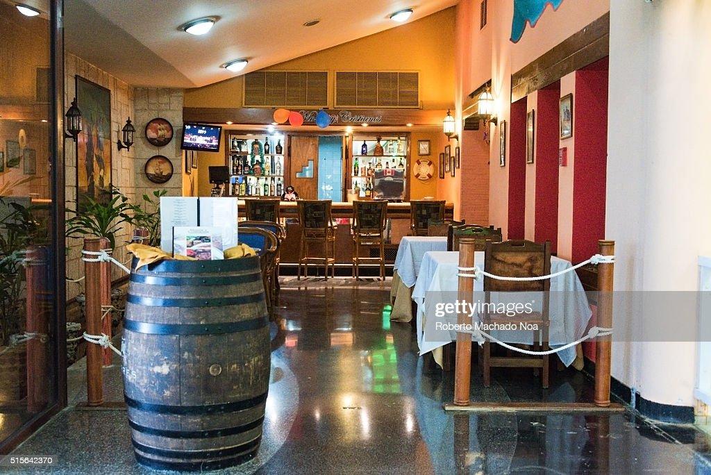 Hotel Comodoros restaurant interior design depicting a sea