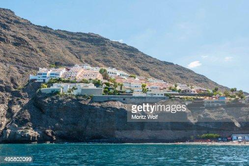 Hotel complex los gigantes puerto de santiago tenerife canary islands spain stock photo getty - Puerto de los gigantes ...