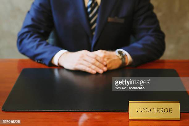 Hotel concierge working