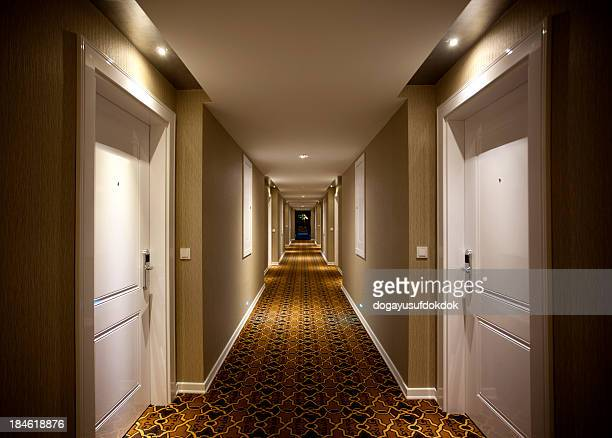 hotel corridor - hotel stock pictures, royalty-free photos & images
