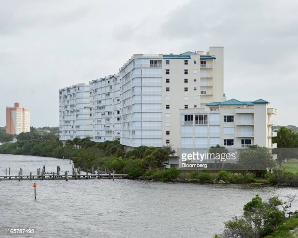 Hotel covered with shutters stands ahead of Hurricane Dorian in Titusville, Florida, U.S., on Monday, Sept. 2, 2019. Hurricane Dorian is continuing...