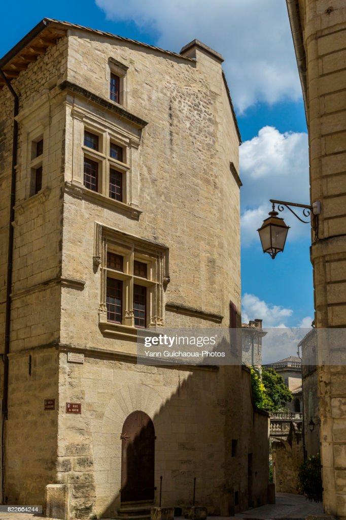 Hotel de la Monnaie, Uzes, Gard, Occitanie, France : Stock Photo