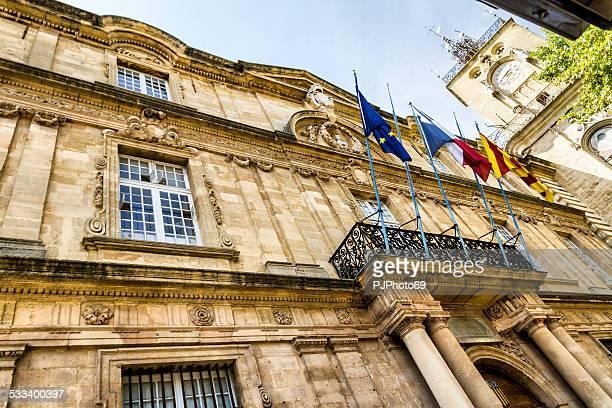 hotel de ville em aix-en-provence - pjphoto69 imagens e fotografias de stock