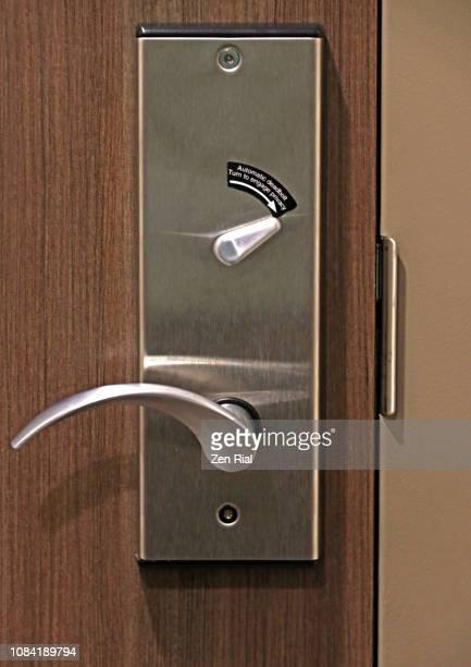 Hotel door bolt and door handle