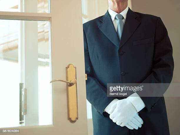 hotel doorman - white glove stock pictures, royalty-free photos & images